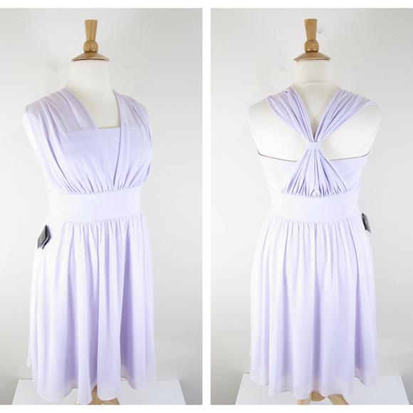 WHBM Plus Size Lavender Genius Convertible Dress NWT